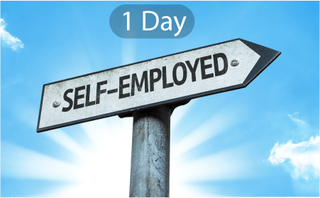 1 day self employed mortgage
