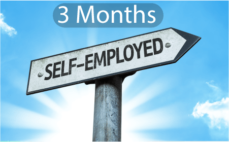 3 months self employed mortgage